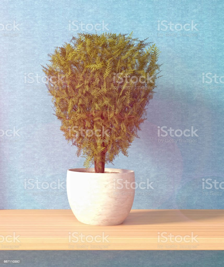 Interiors decoration. 3D Illustration stock photo
