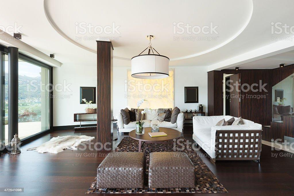 interiors, living room stock photo