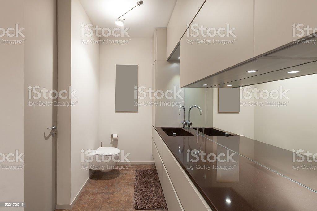 Interiors Modern Restroom Royalty Free Stock Photo