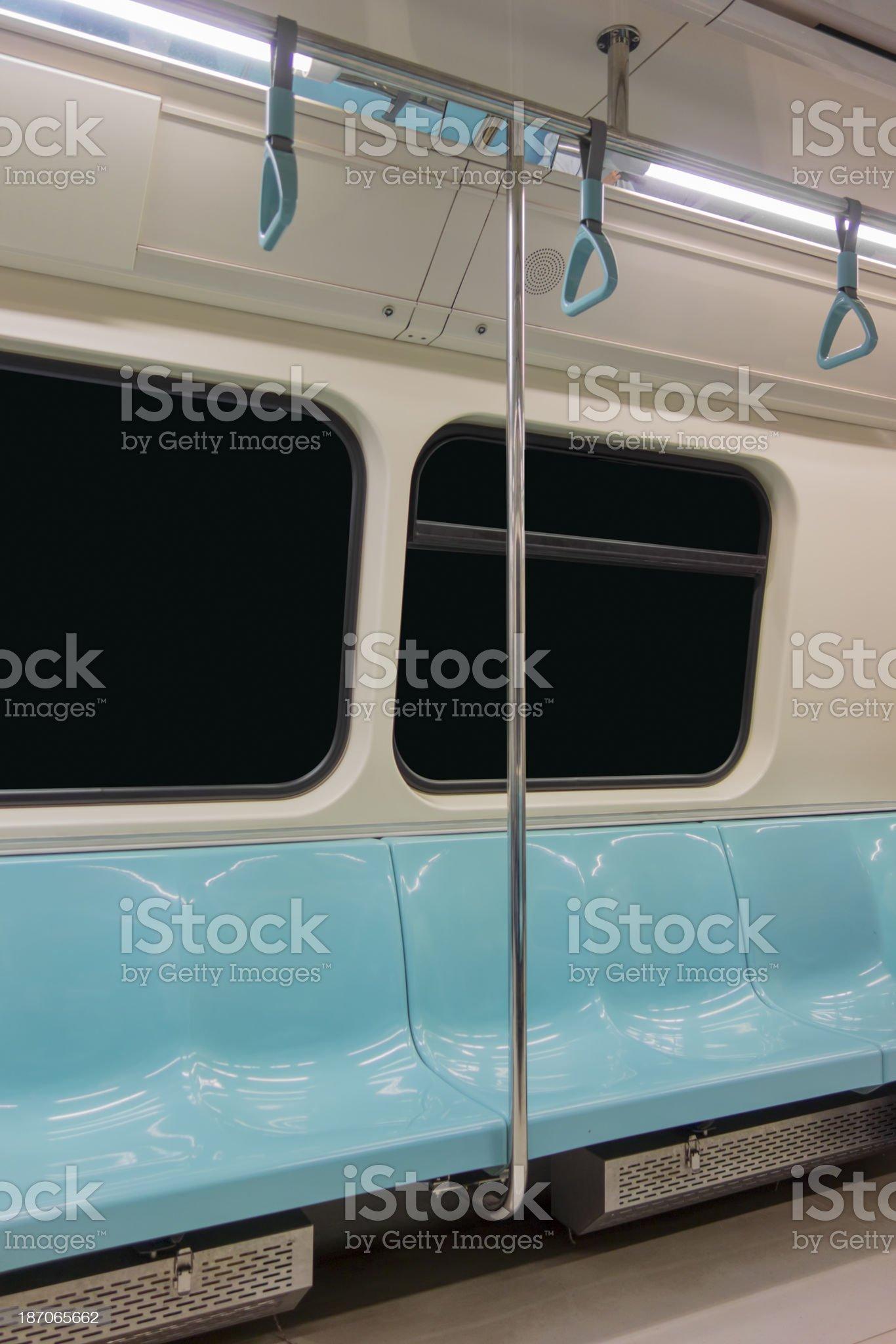 Interiors of a subway train royalty-free stock photo