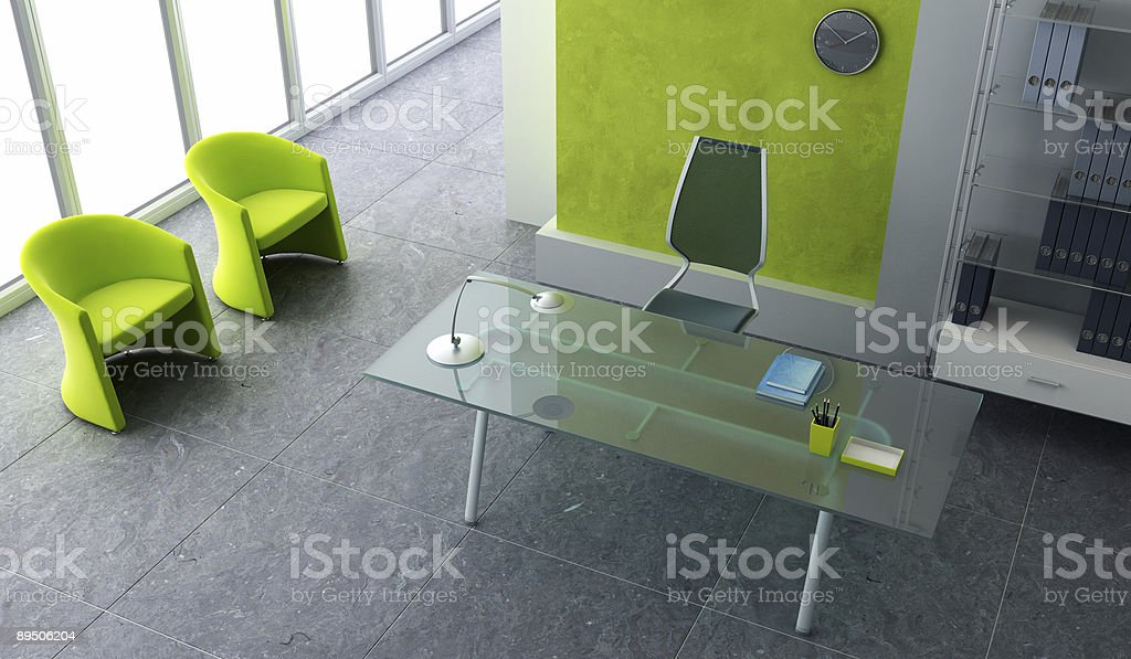 Interiors of an office room shot from the security camera royalty-free stock photo