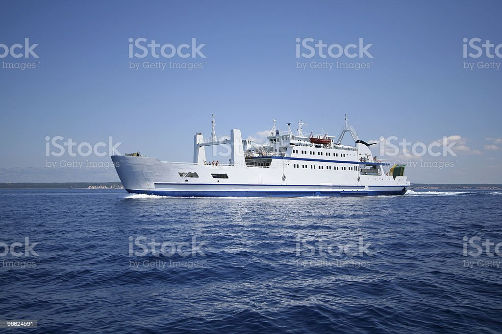 interisland ferry stock photo