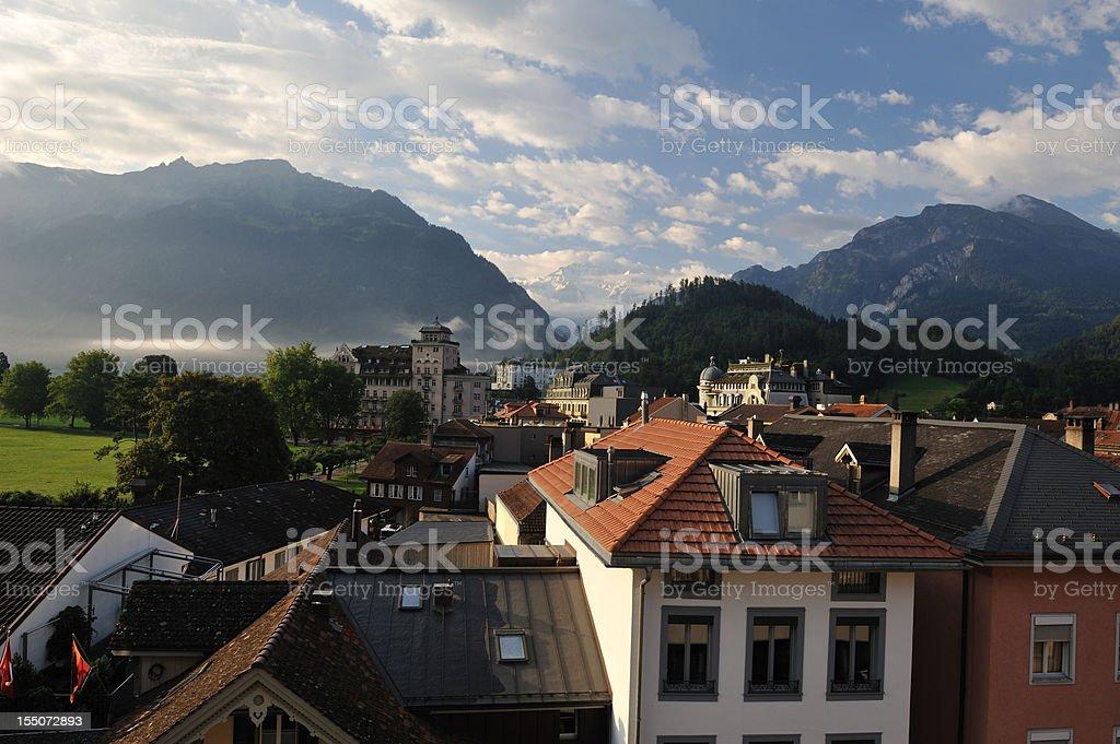 Interlaken at Sunrise royalty-free stock photo
