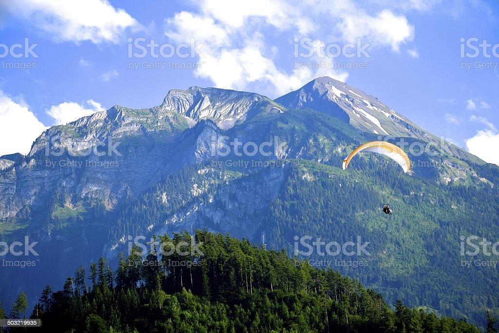 Interlaken Paraglider stock photo
