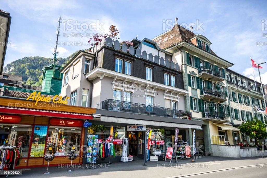 Interlaken streets, Switzerland stock photo