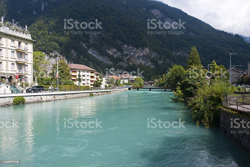 Interlaken, Swiss Alps royalty-free stock photo