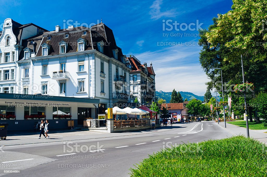 Interlaken, Switzerland. AdobeRGB. stock photo