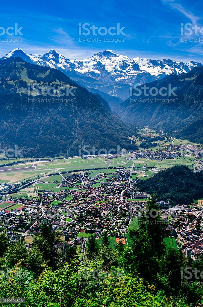 Interlaken, Switzerland, landscape stock photo