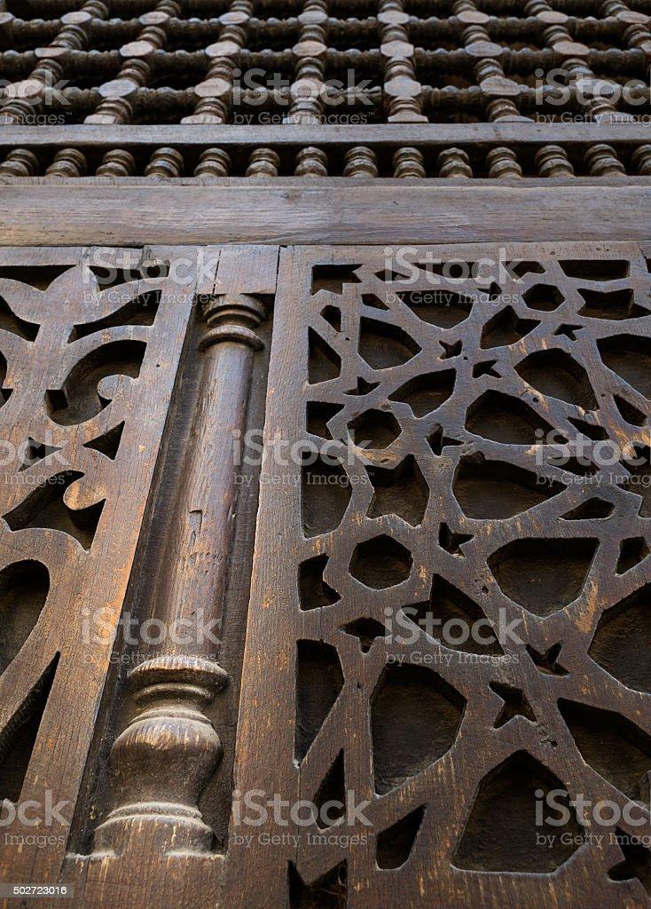 Interleaved wooden ornaments (Arabisk) unit stock photo