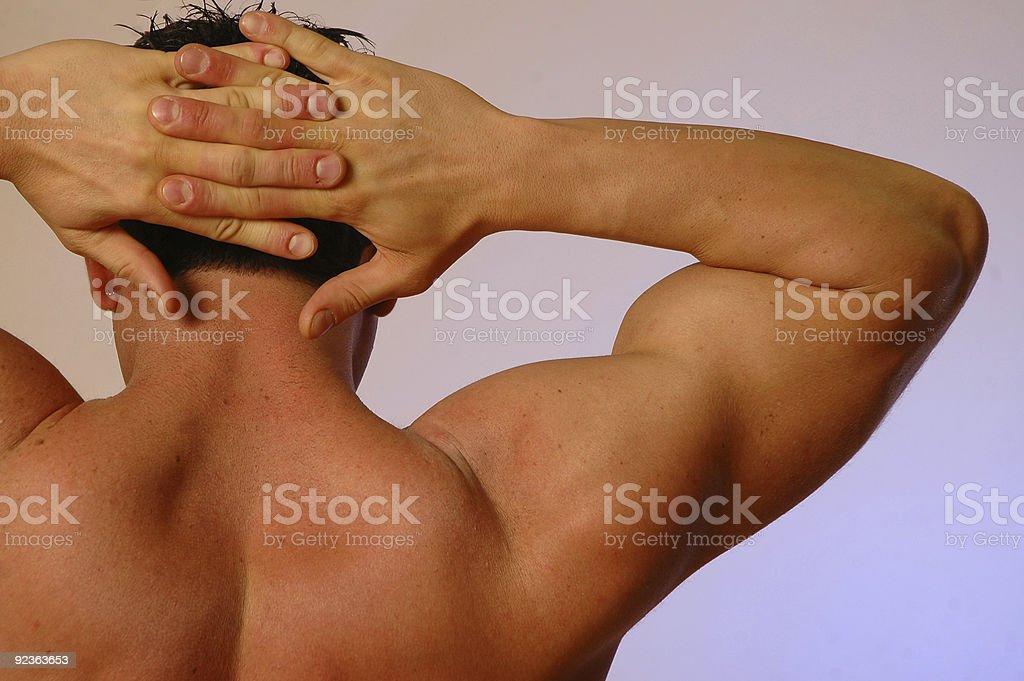 interlocked fingers stock photo