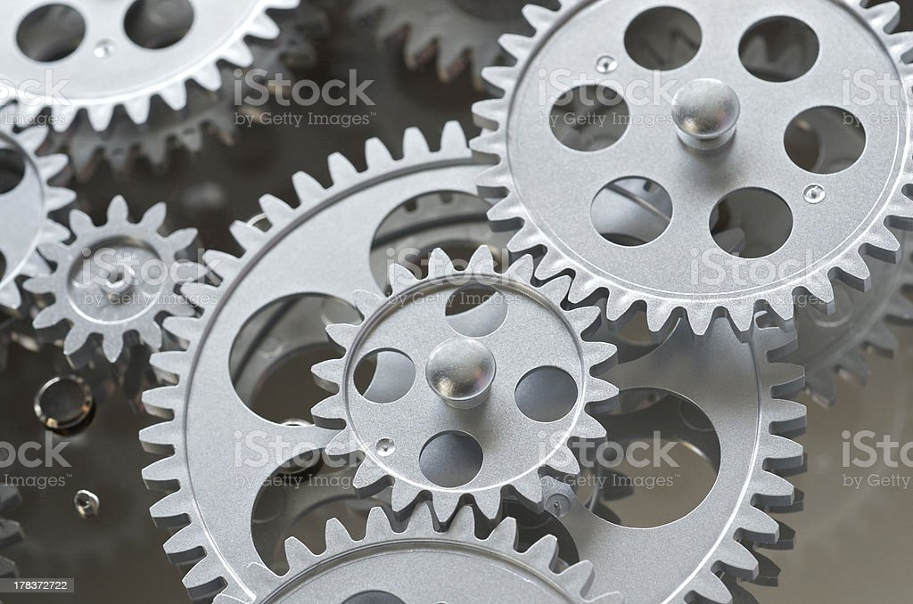 Interlocking Gears stock photo