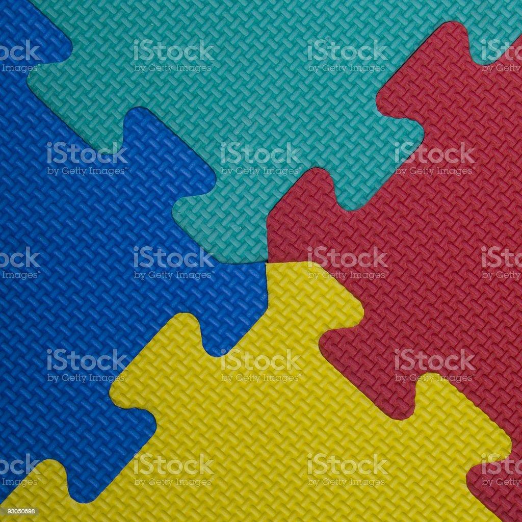 Interlocking jigsaw puzzle pieces royalty-free stock photo