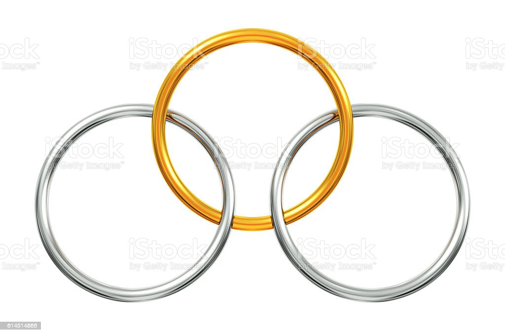 Interlocking rings stock photo