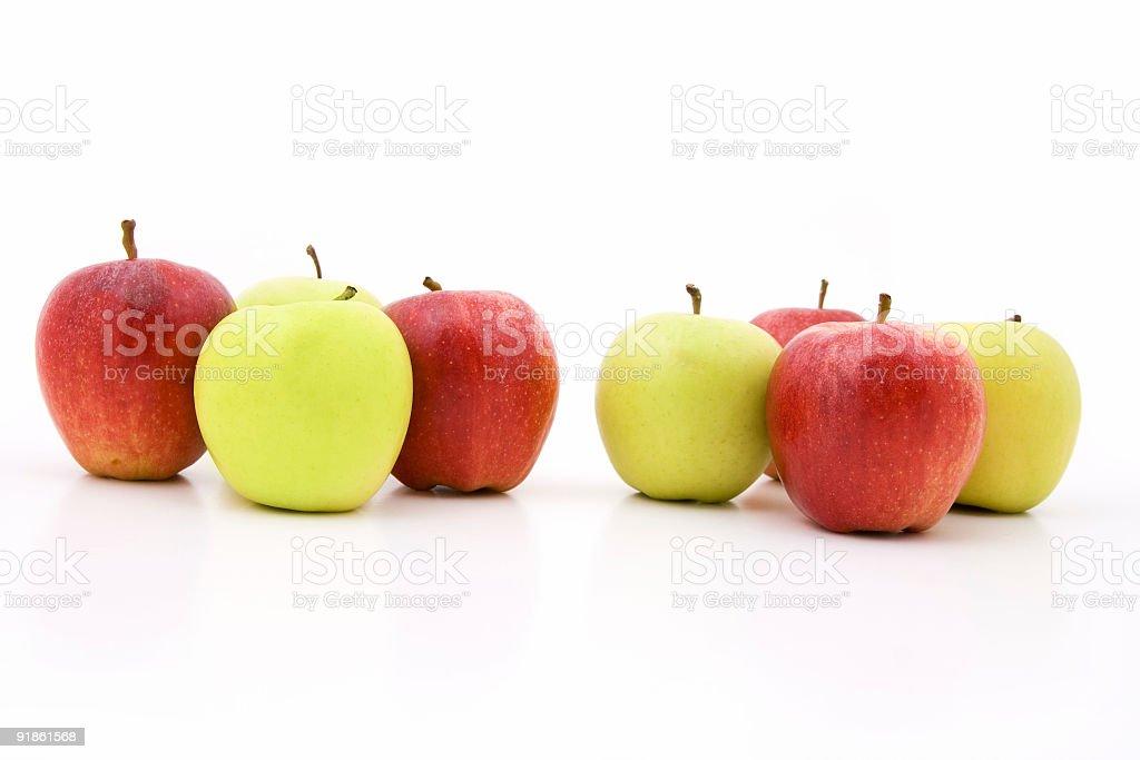 Intermixed apples stock photo