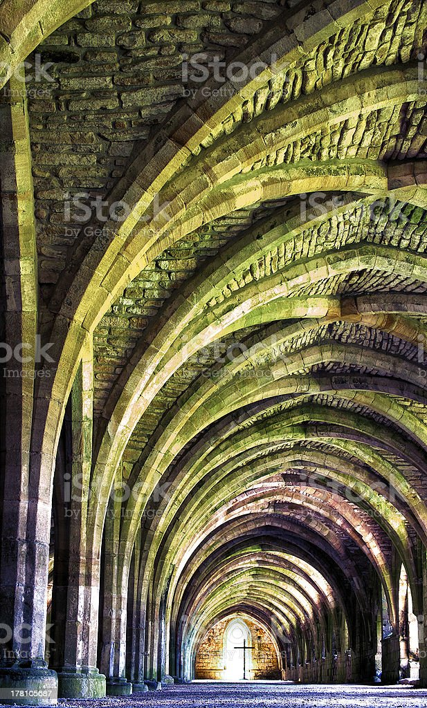 Internal Architecture of an old monastery royalty-free stock photo