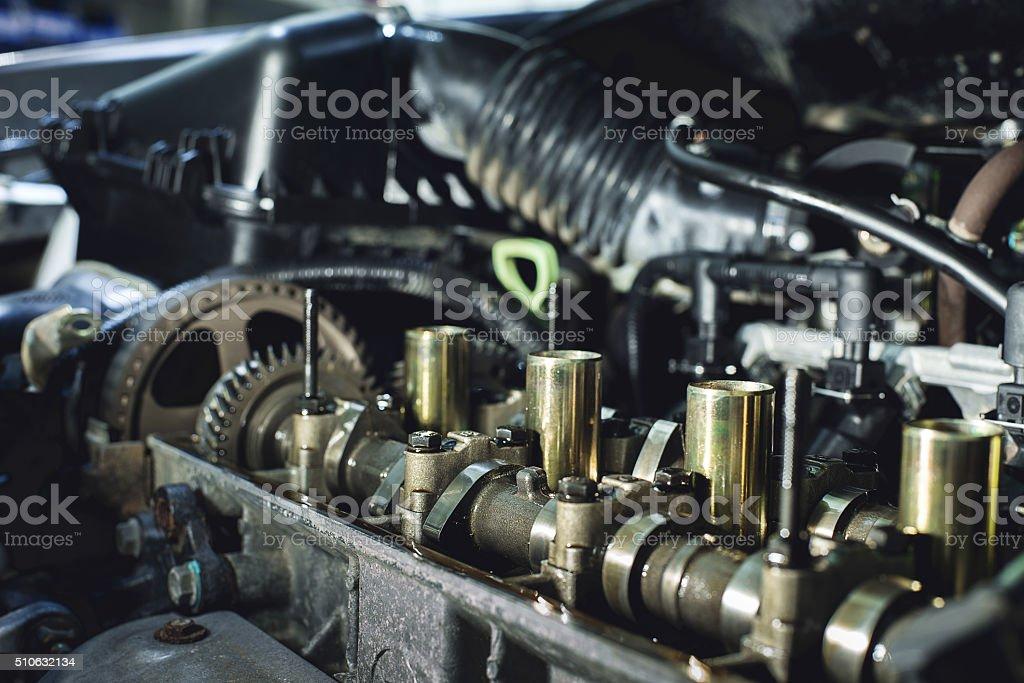Internal combustion engine stock photo