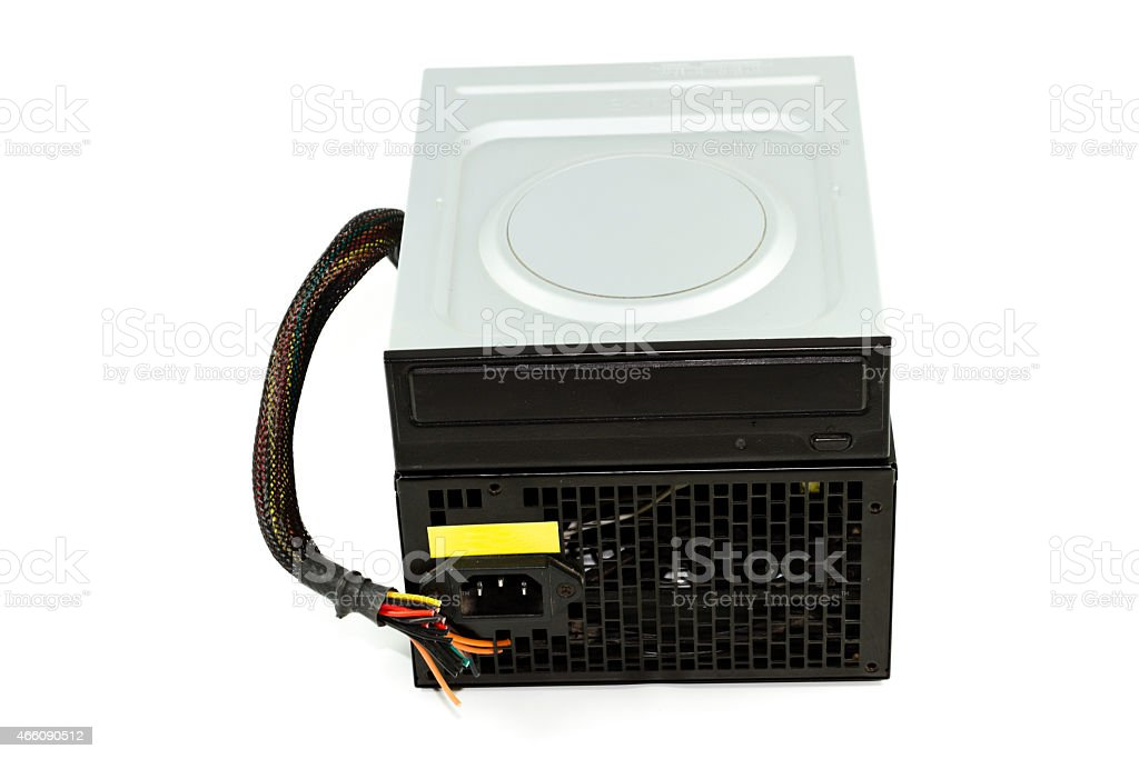 Internal DVD Layer with Defect Computer Supply stock photo