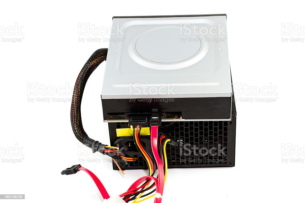 Internal DVD Layer with Defect Power Supply stock photo