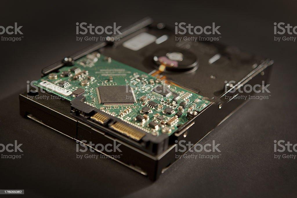 Internal Hardrive circuitry stock photo