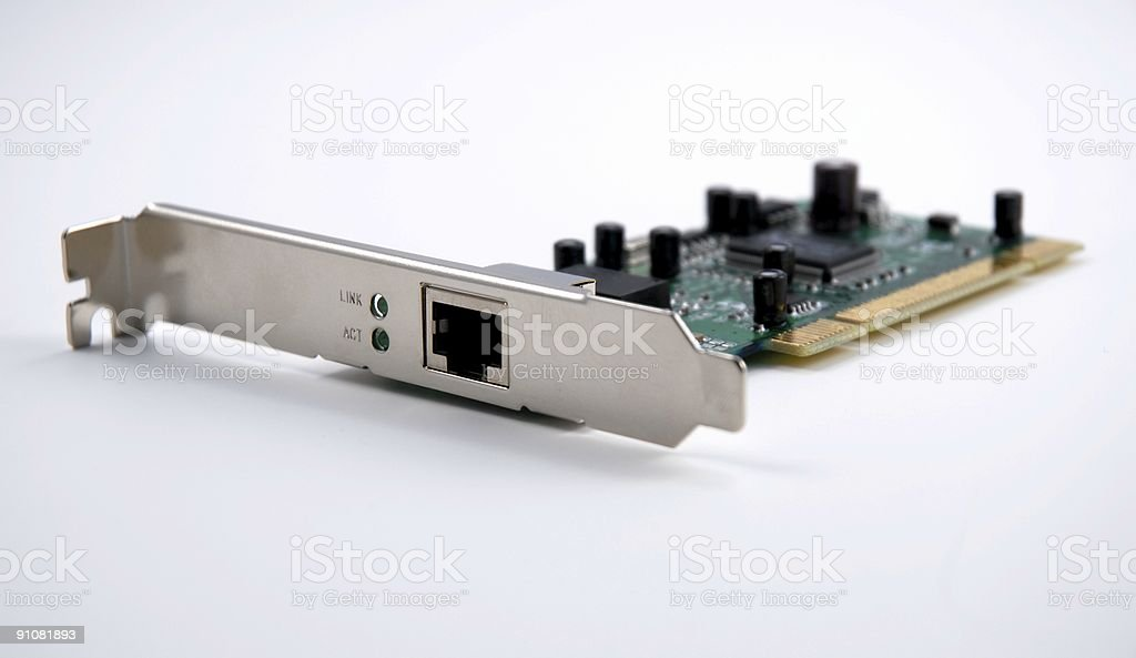 Internal Network Port royalty-free stock photo