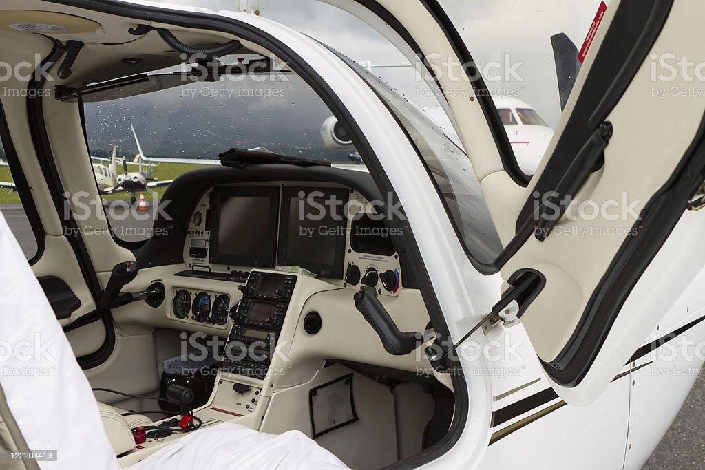 Internal of Cockpit - Aircraft royalty-free stock photo