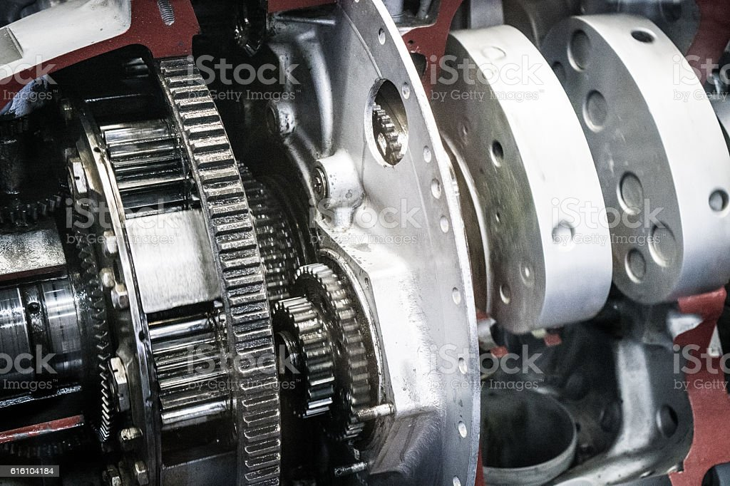 Internal of engine stock photo