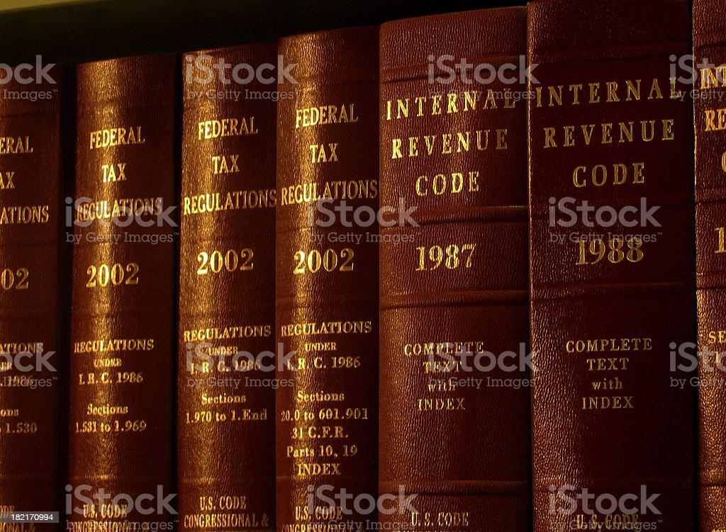 Internal Revenue Code stock photo