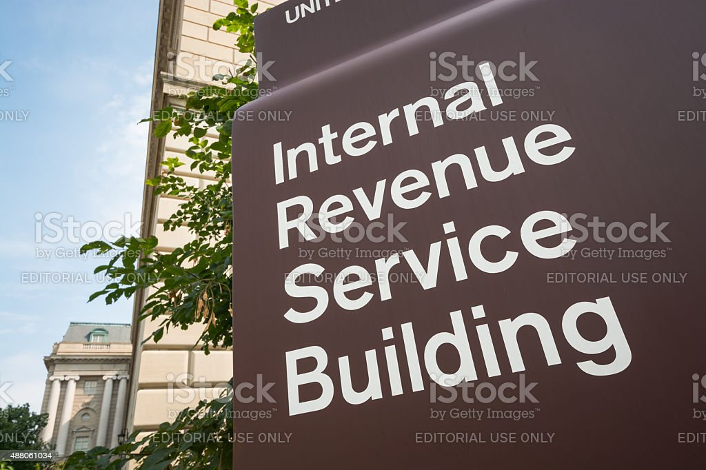 Internal Revenue Service (IRS) Building in Washington, DC stock photo