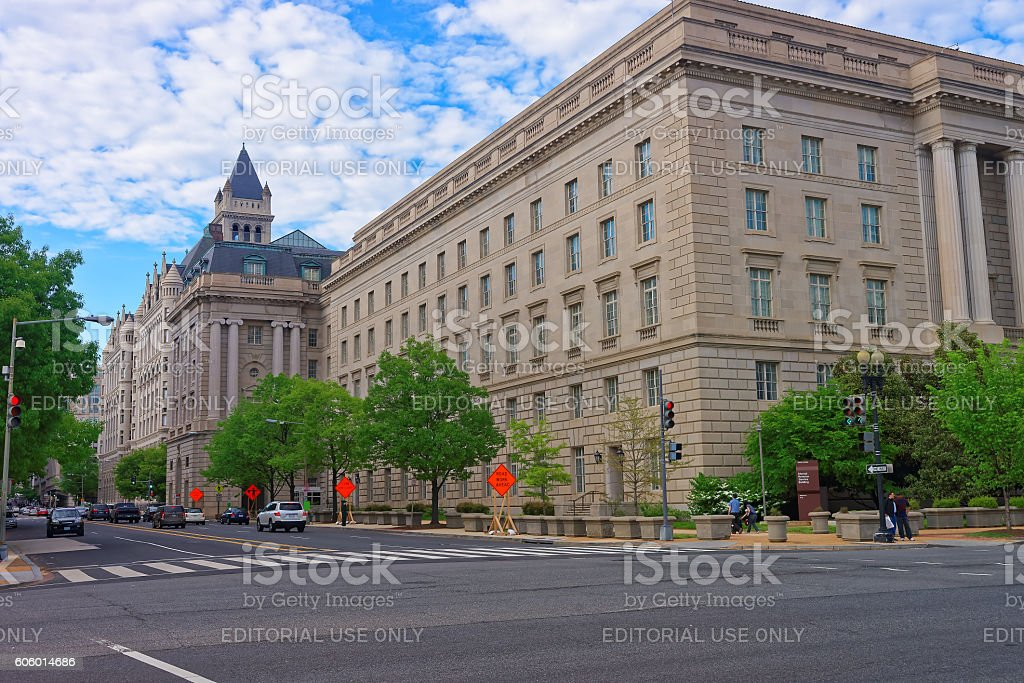 Internal Revenue Service Building in Washington DC stock photo