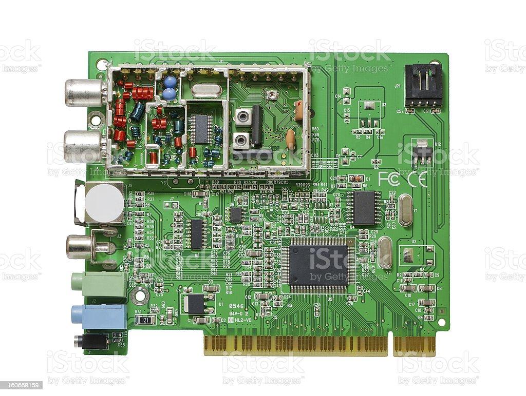 Internal TV tuner royalty-free stock photo