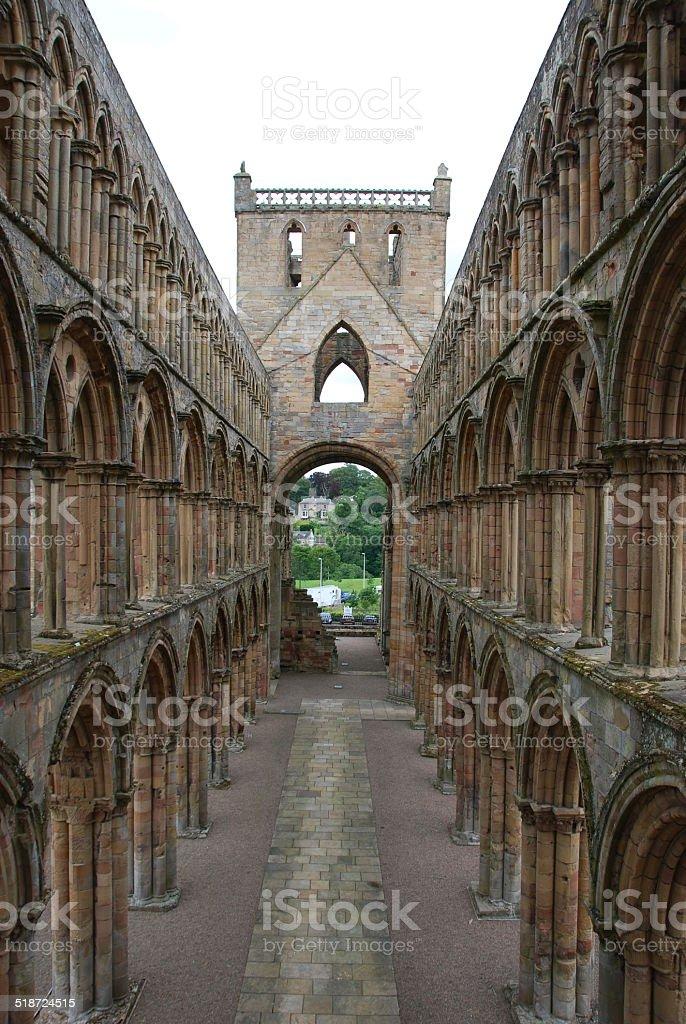 Internal View of Jedburgh Abbey stock photo