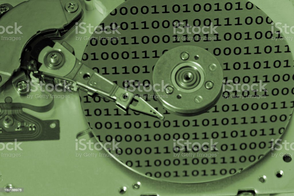Internals of a computer harddrive royalty-free stock photo