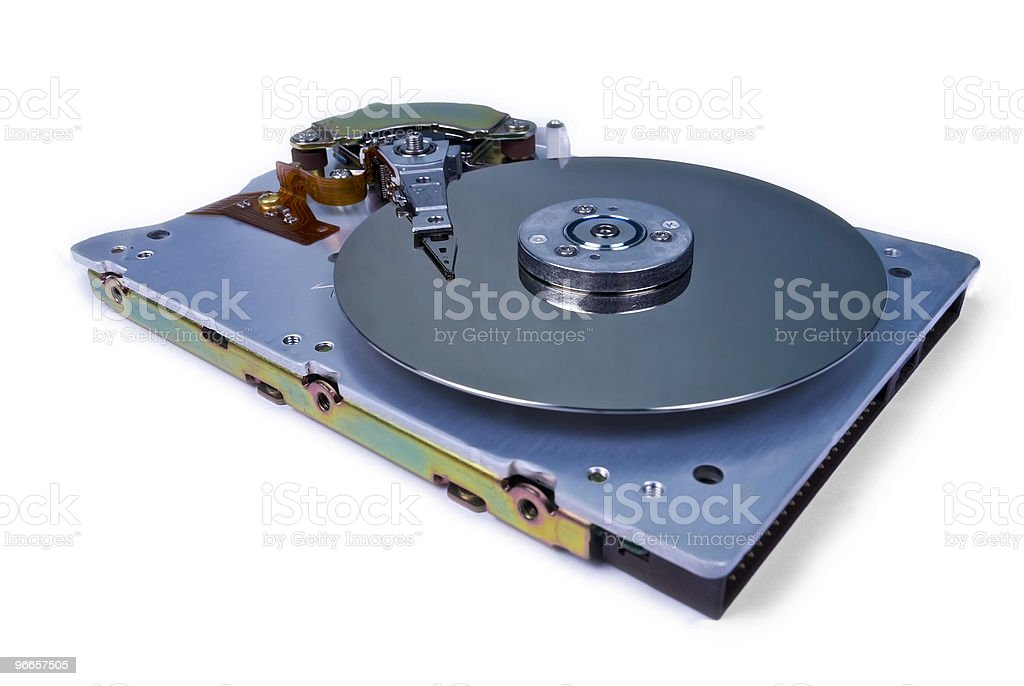 Internals of a hard disk drive royalty-free stock photo
