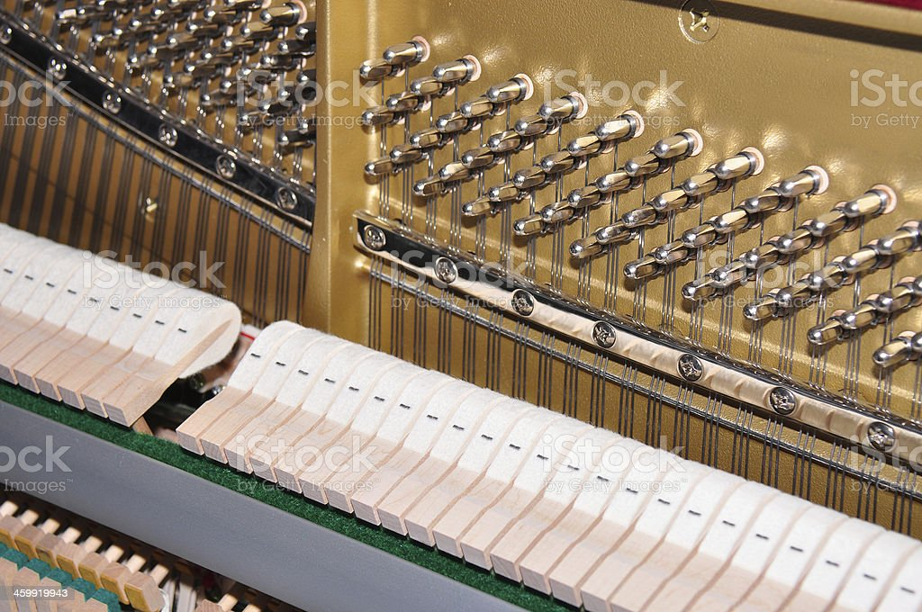 Internals of a piano stock photo