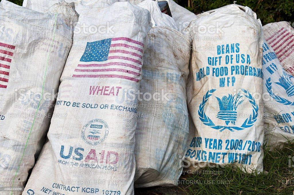 International aid in Key Afar, Ethiopia stock photo