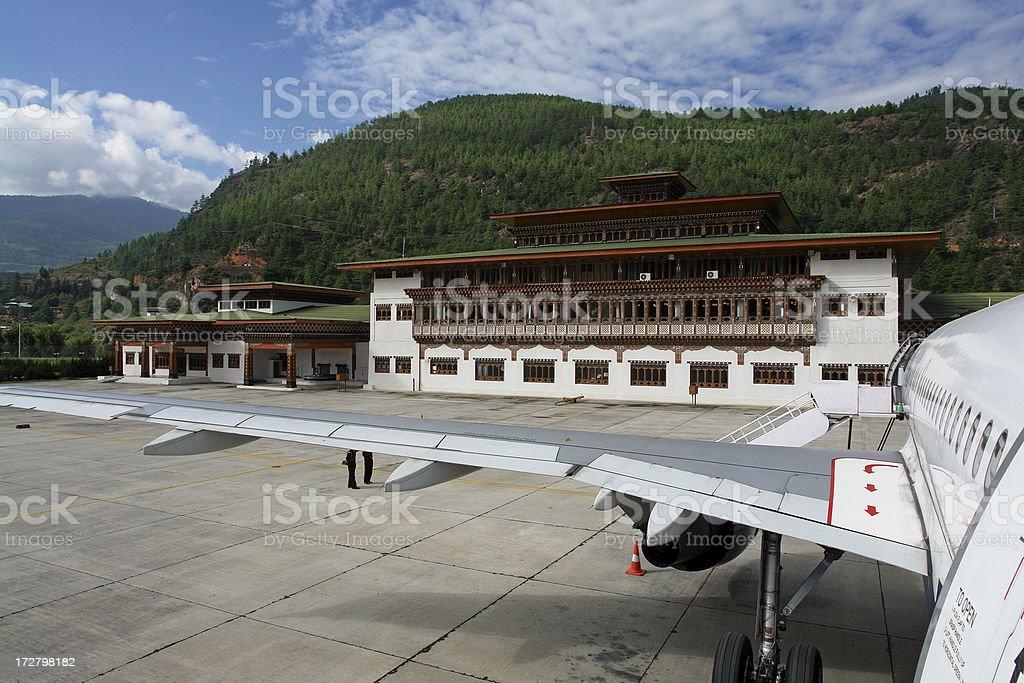 International Airport in Paro, Bhutan stock photo