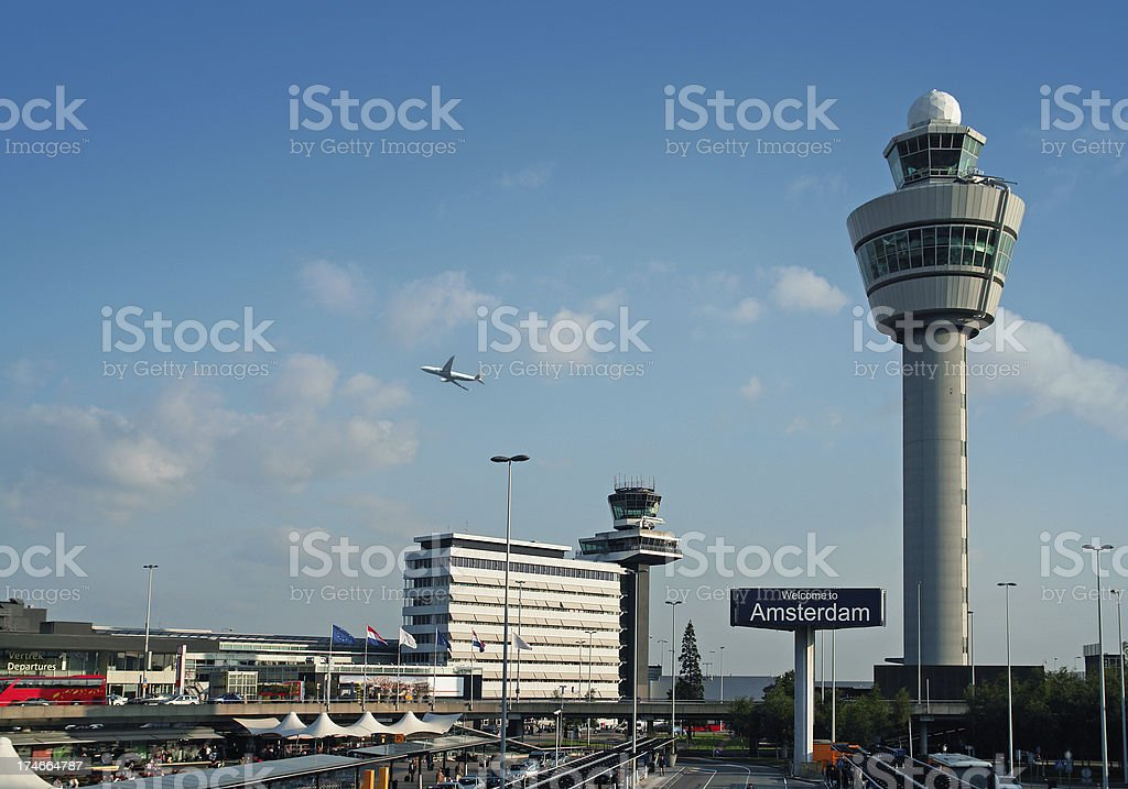 International Airport Schiphol in Amsterdam, Holland stock photo