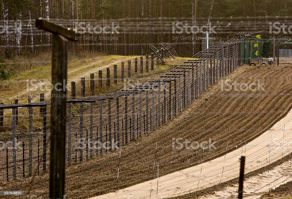 International border control stock photo