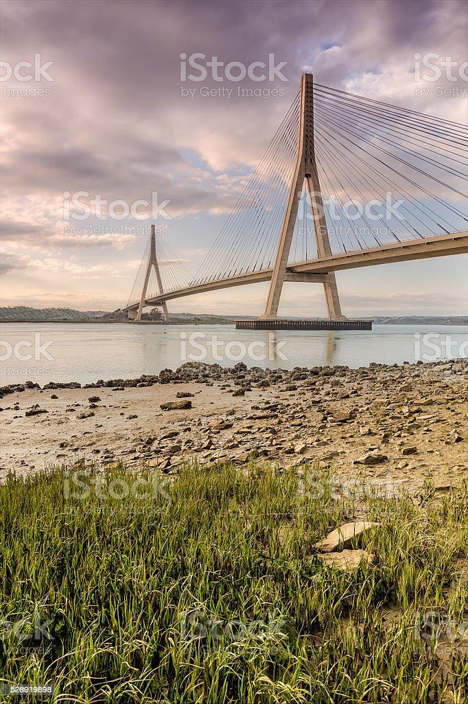 International bridge over the River Guadiana, Ayamonte, Spain stock photo