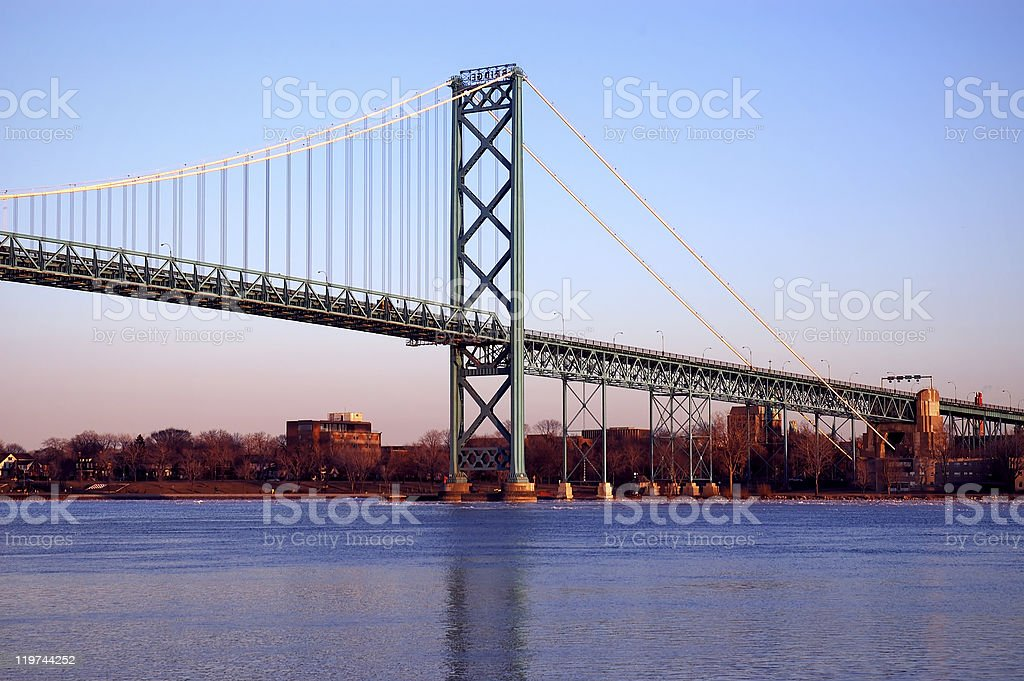International Bridge stock photo