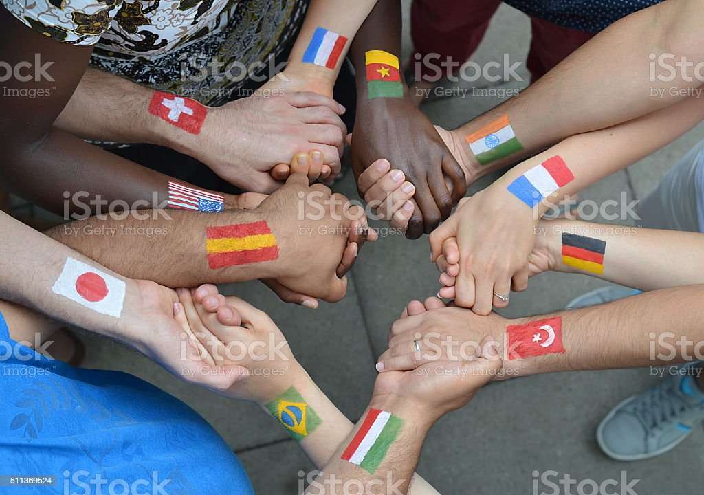 International brothers and sisters stock photo