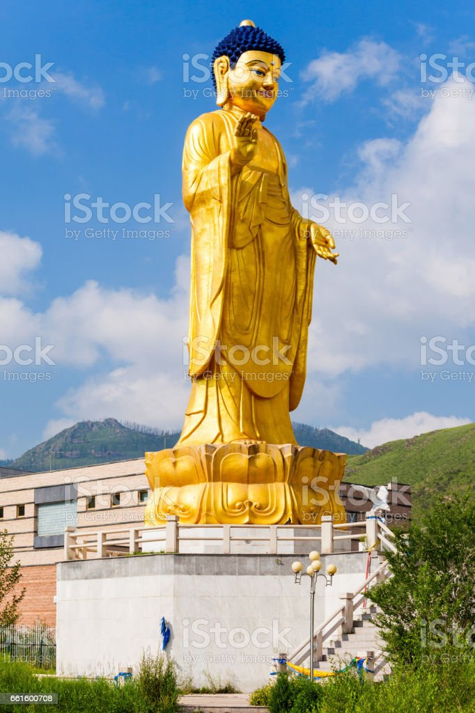 International Buddha Park, Ulaanbaatar stock photo