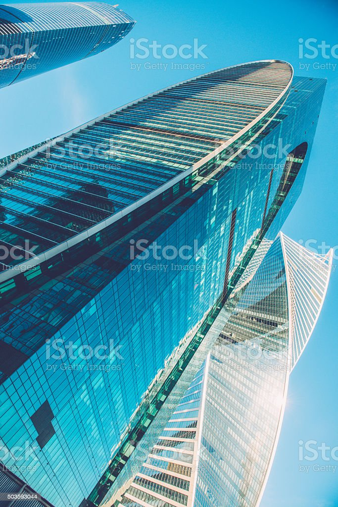 International Business Center Moscow City, Russia stock photo
