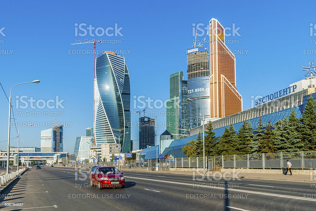 International Business Center Moscow-City and Expocenter stock photo