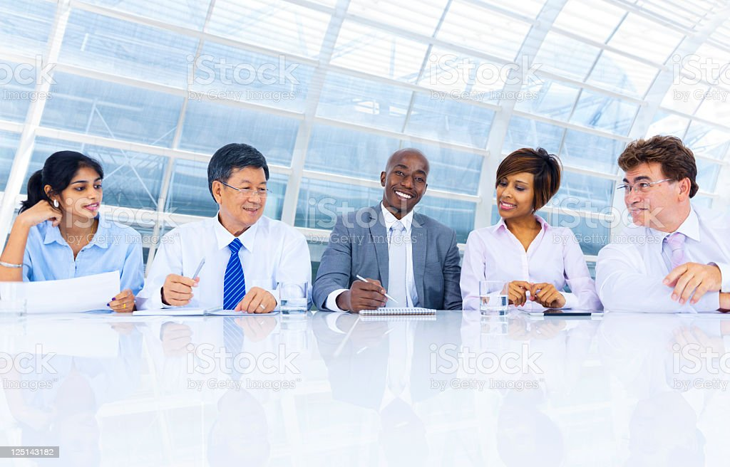 International business colleagues in a meeting royalty-free stock photo