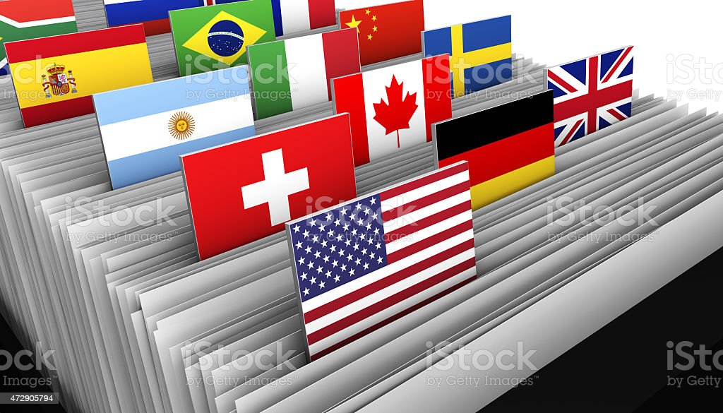 International Business Customer File Directory stock photo