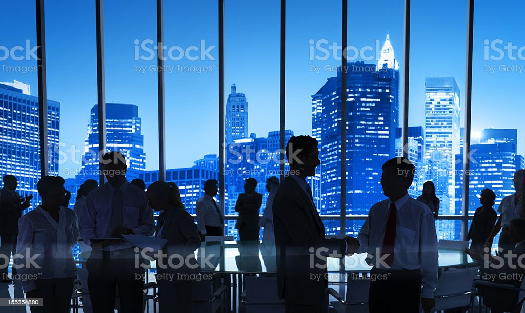 International business meeting in NY royalty-free stock photo