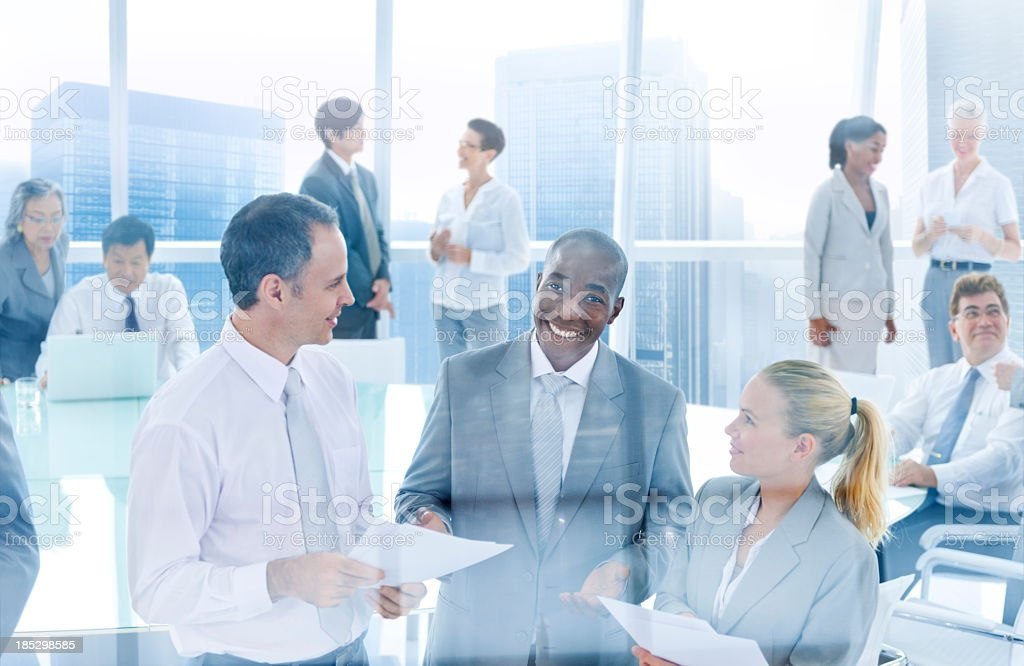 International business people in office royalty-free stock photo