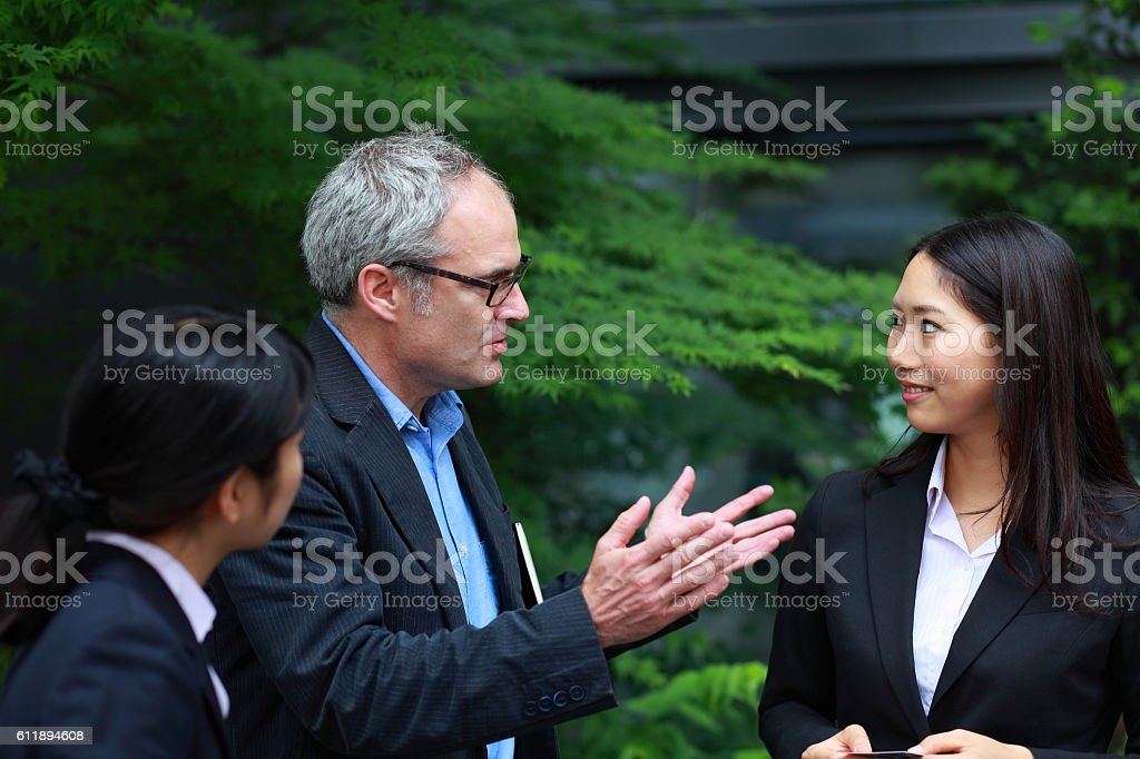 international business people stock photo