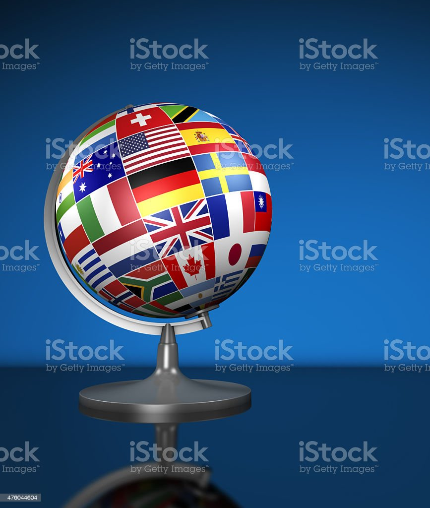 International Business World Flags School Globe stock photo